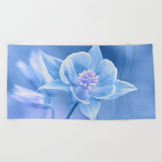 Columbine Flower 161 Beach Towel