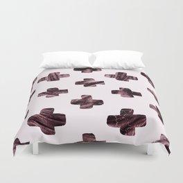 Rosewood velvet gem - scandinavian cross Duvet Cover
