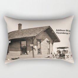 Addison Railroad Station, Ticonderoga Rectangular Pillow