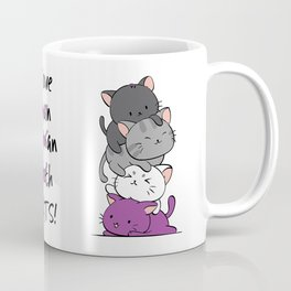 Asexual Pride Cats Anime - Ace Pride Cute Kitten Stack Coffee Mug