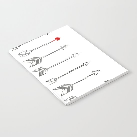 Minimal Love Arrow Notebook