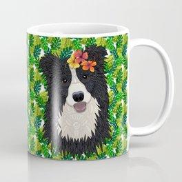 Tropical Border Collie Coffee Mug