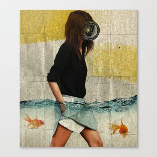 Deep Water Running Canvas Print