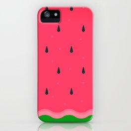 Watermelon summer fruit Fresh pattern iPhone Case