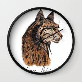 Iberian Lynx Profile Wall Clock