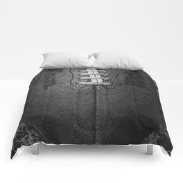 Big American Football - black &white Comforters