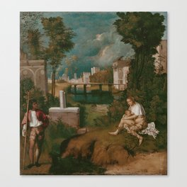 "Giorgione ""The Tempest"" Canvas Print"