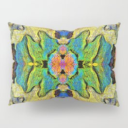 Colorful  Nature Wood Pattern Psychedelic Art Pillow Sham