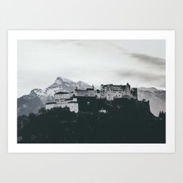 Fortress in the Hills Art Print