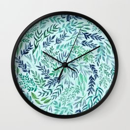 Wild Scattered Branches Wall Clock