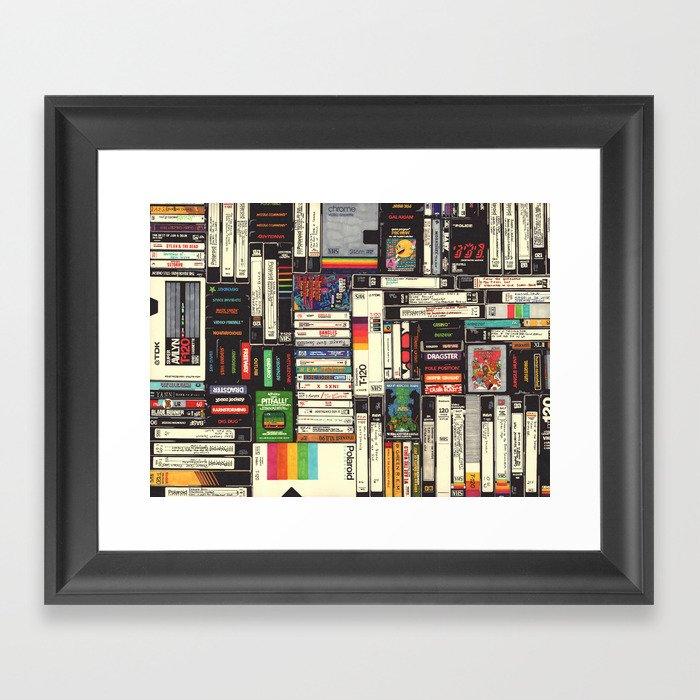 Cassettes, VHS & Games Gerahmter Kunstdruck