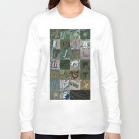 maps Long Sleeve T-shirts featuring Google Maps Alphabet by Rhett