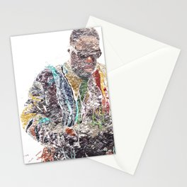 Biggie Smalls Typography Portrait (Featured on the London Underground & Hospital Club Gallery) Stationery Cards