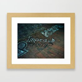 Spray paint: Impeach Trump Framed Art Print