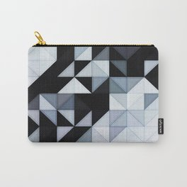 Abstract Black and White Geometry Carry-All Pouch
