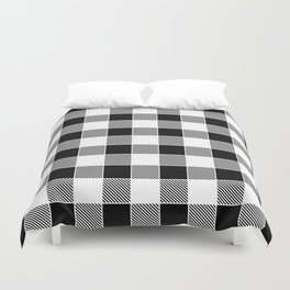 Buffalo Check - black / white Duvet Cover