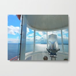 Souris Lighthouse View from the Top Metal Print
