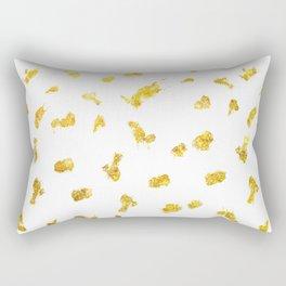 Gold glitter metallic spots pattern Rectangular Pillow