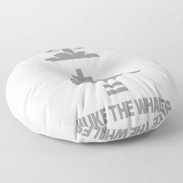 Nuke The Whales Floor Pillow