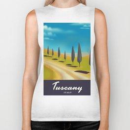 Tuscany Italy travel poster Biker Tank