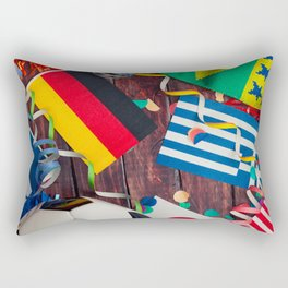 International Soccer Collage With Fan Items Rectangular Pillow