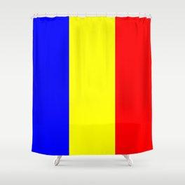 Flag of romania 2 -romania,romanian,balkan,bucharest,danube,romani,romana,bucuresti Shower Curtain