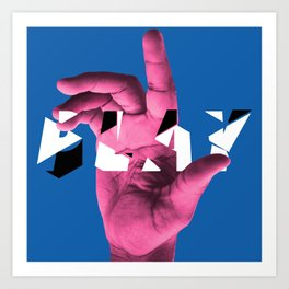PLAY (blue) Art Print