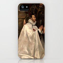 """El Greco (Domenikos Theotokopoulos) """"Julián Romero and his Patron Saint"""" iPhone Case"""