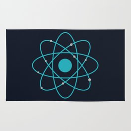 Atom, Molecules, DNA, Science decor, science class Rug