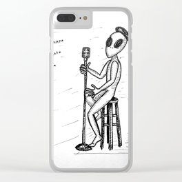 Smed The Alien At Poetry Night Clear iPhone Case