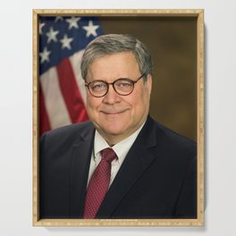 Attorney General William Barr Official Portrait Serving Tray