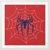 spider Art Prints featuring Spider by Vickn