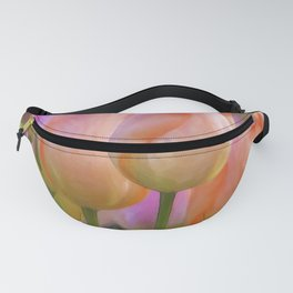 Spring Pastel Tulips Fanny Pack