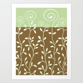 VINERI | brown sage Art Print