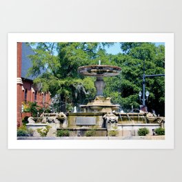 Kenan Memorial Fountain Art Print