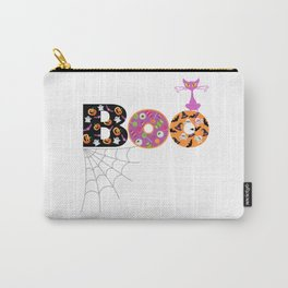 Halloween Boo Text Cute Design Great Gift Carry-All Pouch