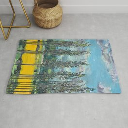Yellow fields of the Loire Valley, France Rug