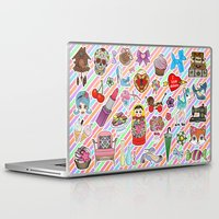 stickers Laptop & iPad Skins featuring I Love Stickers by Jade Boylan