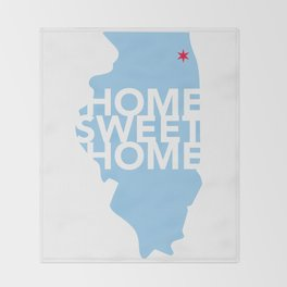 Chicago Home Sweet Home Throw Blanket