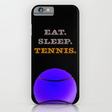 Eat. Sleep. Tennis. (White with Blue) iPhone 6s Slim Case