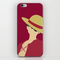 luffy iPhone & iPod Skins featuring Luffy by Polvo