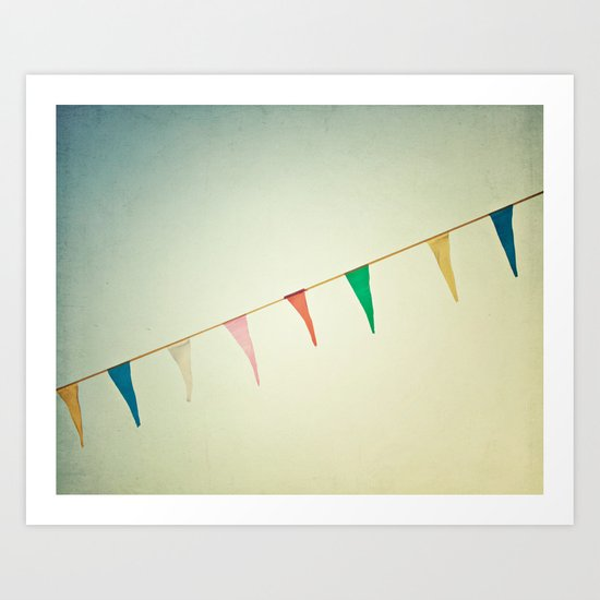 Joyous Carnival Flags Art Print