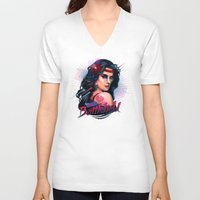 battlefield V-neck T-shirts featuring Love is a Battlefield by Rocky Davies