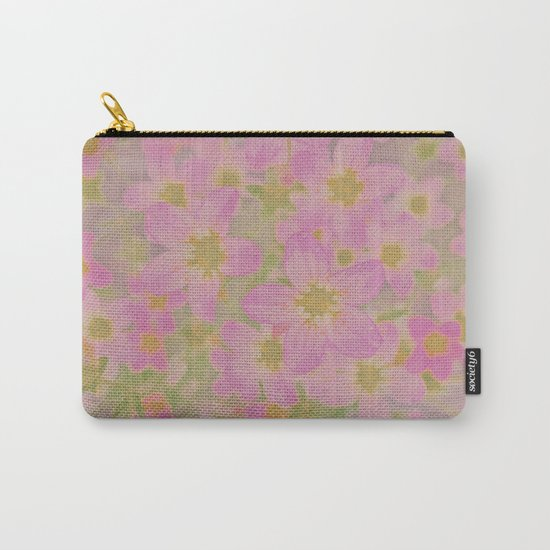 Pink Floral, The Earth Laughs In Flowers Carry-All Pouch