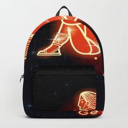 Zodiac red neon — Gemini Backpack