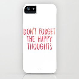 Chance the Rapper - Don't forget the happy thoughts iPhone Case