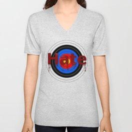 Target Bloody Hate Unisex V-Neck
