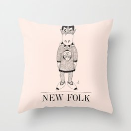 New Folk - King Hat Throw Pillow