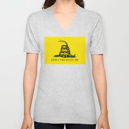 "Gadsden ""Don't Tread On Me"" Flag, High Quality image Unisex V-Neck"