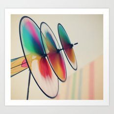 Spin, spin, spin Art Print
